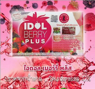 3 Box IDOL SLIM BERRY PLUS FRUIT DRINK DIET WEIGHT MANAGEMENT BODY WHITENING