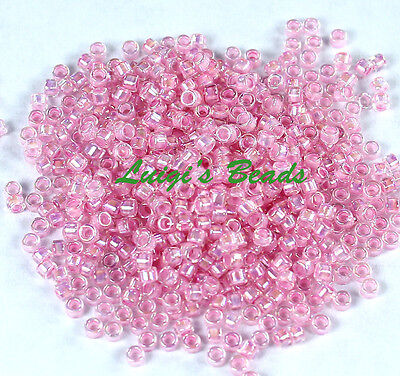 (11/0 TOHO Treasures Glass Seed Beads #780-Rainbow Crystal/Bubble Gum Lined 5g)