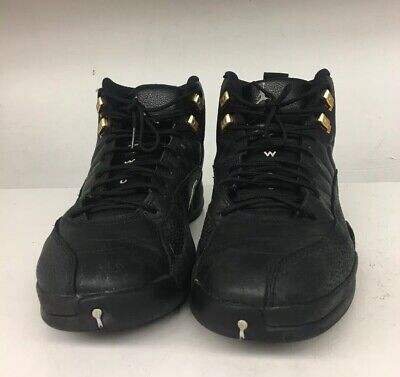 Nike Air Jordan 12 XII Retro Sz. 12 Black White Gold 130690-013 Ships (Air Jordan 12 Retro Black White Gold)