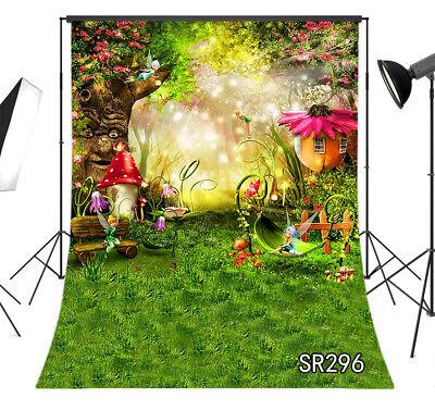 Fairy Tale Wonderland Forest Elf Mushroom Photo Background Backdrop Studio Props ()