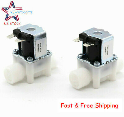 2pcs 12 12v Dc Electric Solenoid Valve Normally Close Ncwater Etc