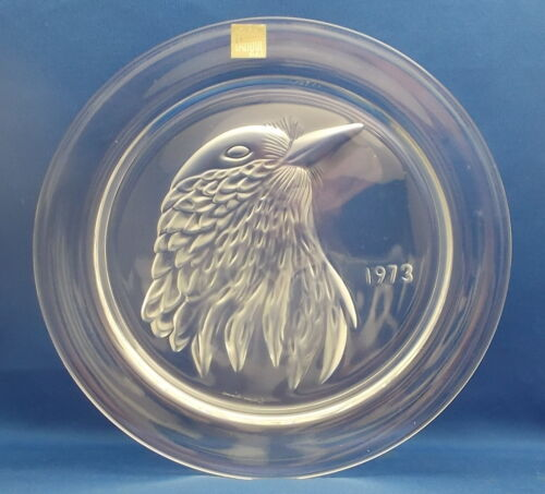 Lalique Cristal  1973    Jayling  Bird Plate Paris France                     tk