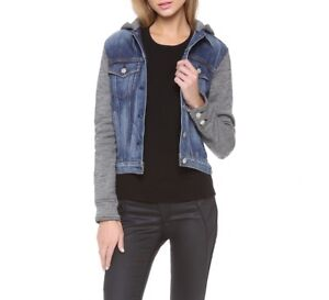 RAG AND BONE THE JEAN JACKET WITH HOOD Women Extra Small