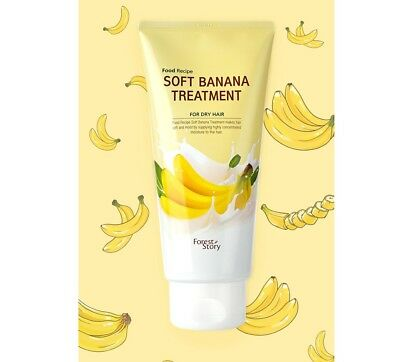 Banana Hair Treatment ([Welcos] Forest Story Food Recipe Soft Banana Treatment For Dry Hair 145g )