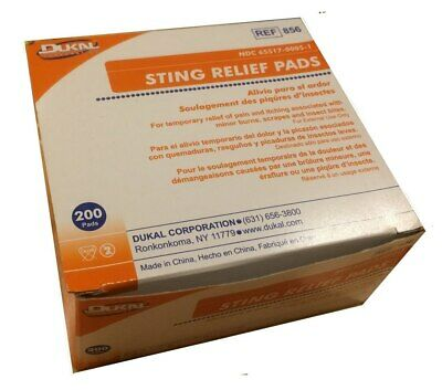 Insect Sting / Bite Relief Pads 200/Box - Insect Sting Relief Pad