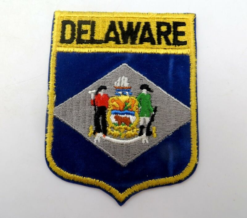 Vintage State Souvenir Embroidered Travel Patch - DELAWARE - Never Used