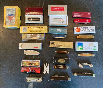 Old Vintage Estate Pen Folding Pocket Knife Knives Lot Collection w Box