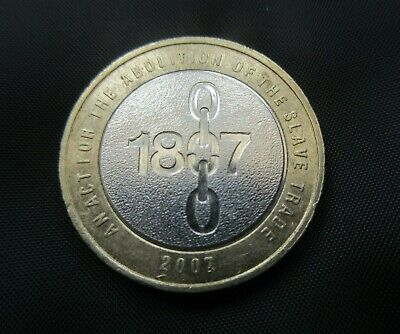 £2 Two Pound Coin 2007 Abolition of the Slave Trade 1807-2007 (circulated)