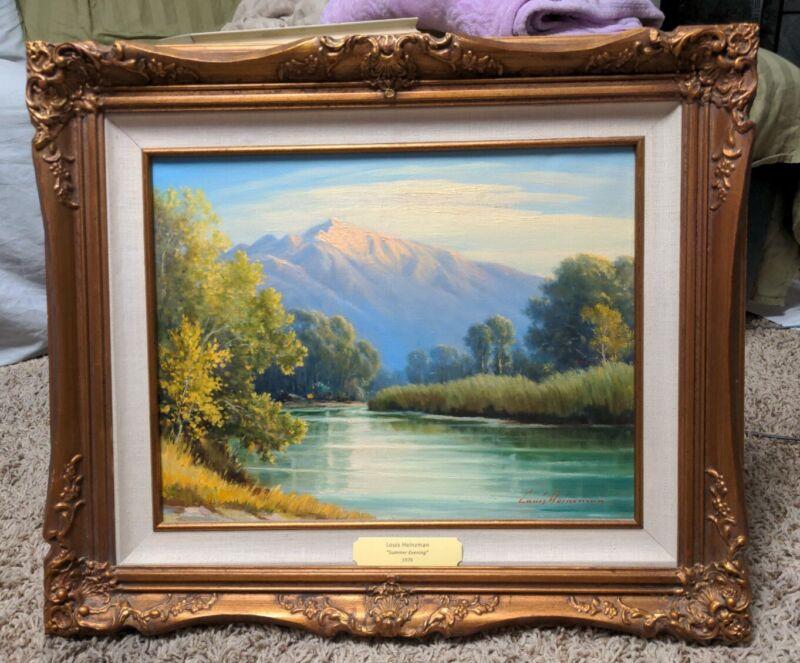 Beautiful Louis Heinzman Listed Utah and California Artist Oil on Canvas