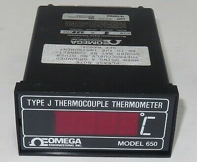 Omega Model 650 Type J Thermocouple Microprocessor Digital Thermometerworks