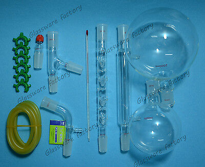 2000ml2440distillation Apparatuslab Rectifying Kitlab Glassware Set 2440