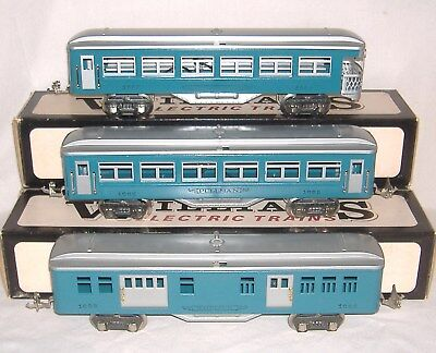 1933-37 LIONEL/IVES TRANSITION CARS #1685 #1686 #1687 made by WILLIAMS. O Gauge