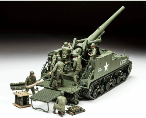 Tamiya 1/35 No.351 US Army 155mm M40 SPG Big Shot Plastic Model 35351