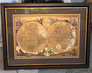 Bombay Co. Framed Map of the World $80