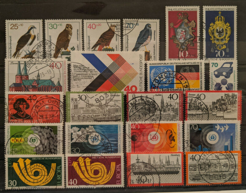 Germany 1973 Complete Year Set Used
