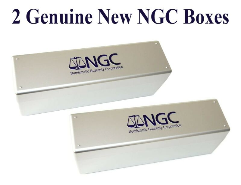 2 New NGC Silver Coin Slab Plastic Storage Boxes Each Hold 20 Certified Coins