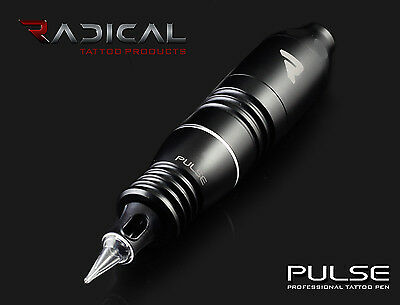 Radical PULSE PEN Rotary Tattoo Machine LINER & SHADER (Black) Supply Ink