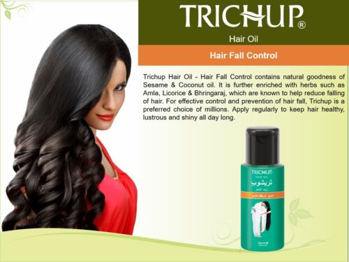 Trichup Oil Hair Fall Control 50 ML Export Arabic English Pack USA Seller