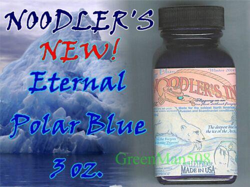Noodler's Polar Blue Ink Archival Bullet Proof 3 oz   #19208