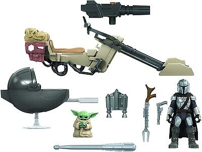 Star Wars Mission Fleet The Mandalorian The Child Baby Yoda Speeder Bike NEW