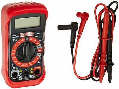 Craftsman 8 Functions Digital Multimeter Volt Ac Dc Tester Meter Voltmeter