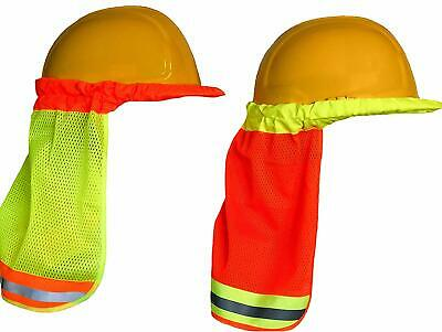 Hard Hat Neck Shade W Reflective Stripe - High Visibility - One Size Fits All