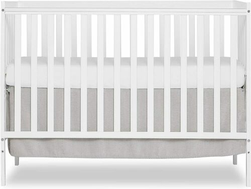 Dream On Me SYNERGY 5-in-1 Convertible Crib Toddler Day Full Size Bed White
