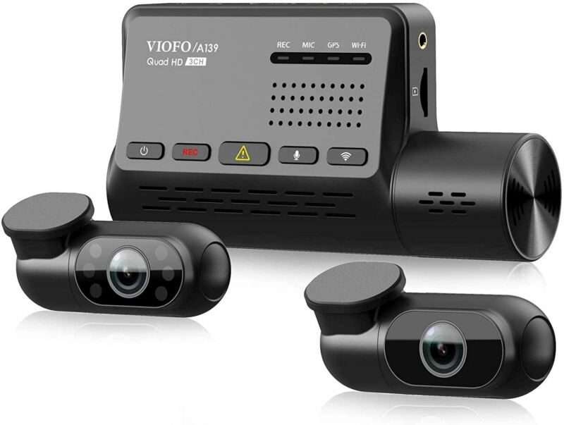 Viofo A139 3-Channel Dash Camera With Sony Starvis Sensors + WiFi + GPS