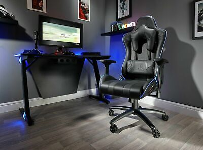 New X-Rocker Amarok Officially Licensed PlayStation Gaming Chair - Black-GBL165.