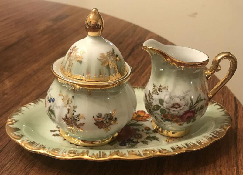 Vintage Porcelain Kleiber Regnitzlosau Bavaria Cream And Sugar Service Set