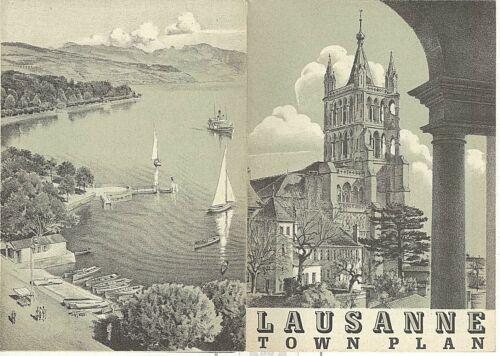 VINTAGE TRAVEL BROCHURE~LAUSANNE SWITZERLAND