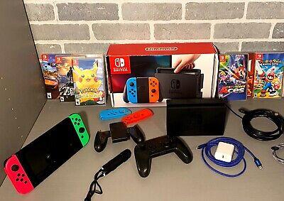 Nintendo Switch 32GB Console with Gray Joy‑Con Bundle 7 games- Mario