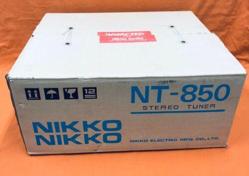 Vintage Nikko NT-850 Stereo Tuner Japan