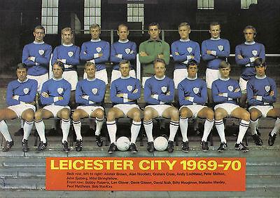 LEICESTER CITY FOOTBALL TEAM PHOTO 1969-70 SEASON