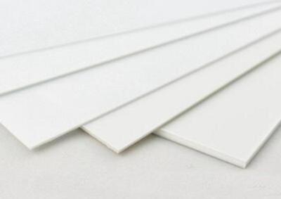 Us Stock 5pcs Abs Styrene Plastic Flat Sheet Plate 0.8mm X 200mm X 250mm White