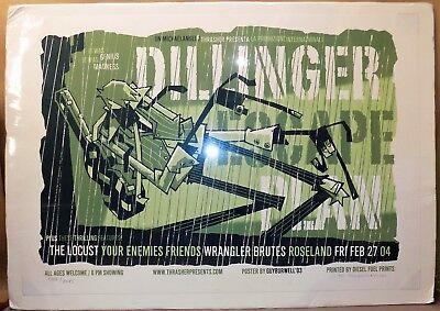 Ltd ed concert poster DILLINGER ESCAPE PLAN Portland OR 2004 artist signed METAL