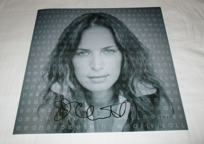 CHANTAL KREVIAZUK SIGNED WHAT IF IT ALL MEANS SOMETHING 12X12 PHOTO
