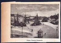 Novi Ligure Xilografia Piazza Vittorio Emanuele - Le Cento Citta' D' Italia 1899 -  - ebay.it