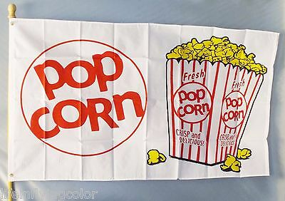 Popcorn Flag 3x5 Advertising Sign Banner Concession Snack-bar Fair New Food