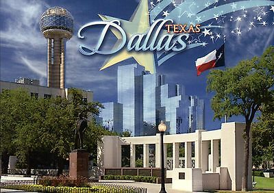 Dealey Plaza West End District of Downtown Dallas Texas, TX Flag etc. - Postcard for sale  Shipping to South Africa