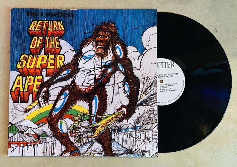 Lee Scratch Perey Signed Autographed Return Of The Super Ape Vinyl LP Record