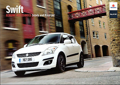 Suzuki Swift Accessories 2010-11 UK Market Sales Brochure SZ2 SZ3 SZ4