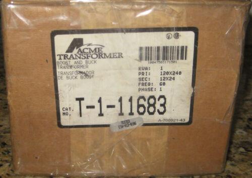 ACME T-1-11683 1000 VA BUCK BOOST TRANSFORMER. PRI120X240, SEC 12X24. 1-PHASE