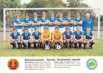 DDR-Fussball-Nationalmannschaft 1977: Dörner Sparwasser Gröbner Riediger Croy