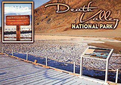 Badwater Basin Death Valley National Park California  Below Sea Level   Postcard