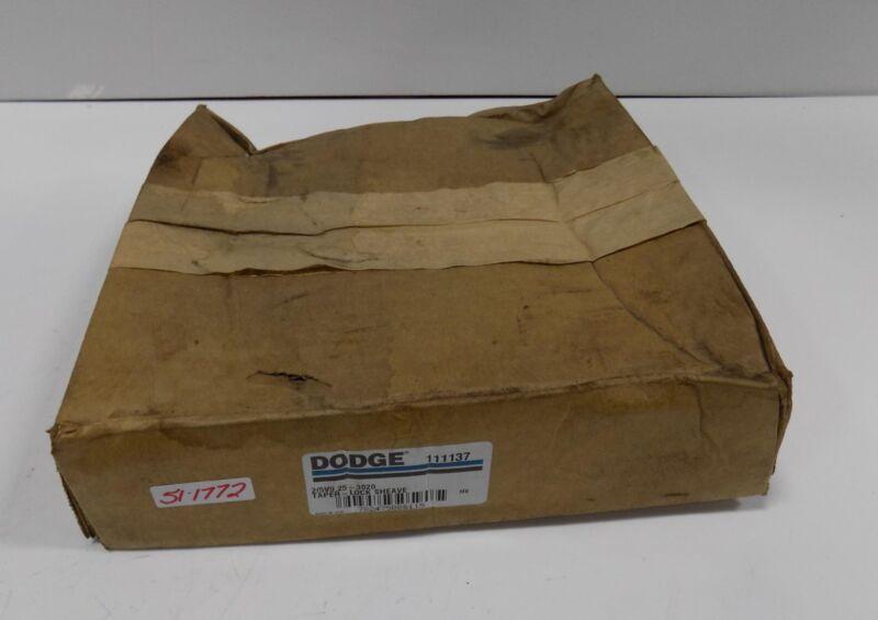DODGE 111137 2/8V9.25-3020 TAPER LOCK SHEAVE  NIB *PZB*
