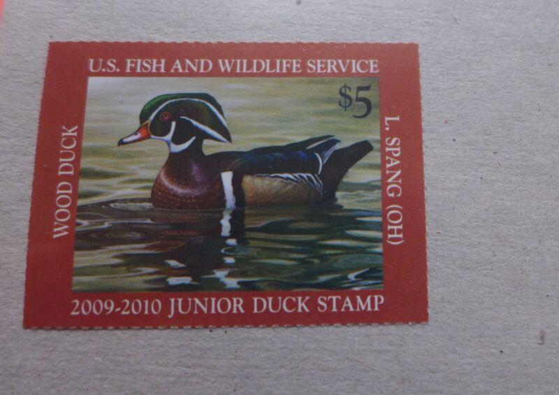 Singe JDS17 MNH.  2009-2010 Wood Duck Federal Junior Duck Permit Stamp