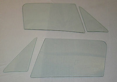 1963-1967 CORVETTE COUPE 4 PC SIDE GLASS SET CLEAR DATED TO MATCH YOUR CAR