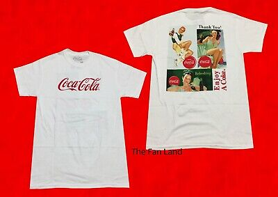 New Coca-Cola Coke Pin Up Girls Sign Men's Vintage Retro T-Shirt