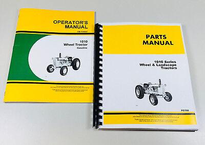 Operators Manual Parts Catalog For John Deere 1010 Gasoline Wheel Tractor Owners